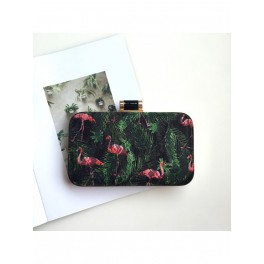 CLUTCH FLAMINGO NEGRO O VERDE