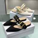 Sandalia plana belt D negra o blanca