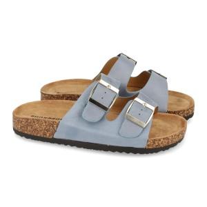 Sandalia hebillas azul