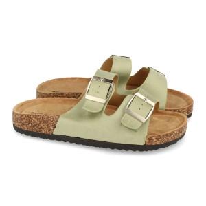Sandalia hebillas verde