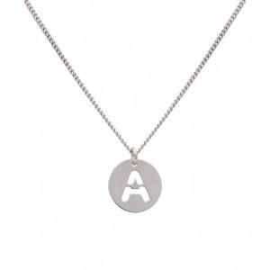 Collar inicial personalizada calada plata